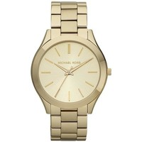 Watches & Jewellery  Women Analogue watches MICHAEL Michael Kors MK3179 Runway Champagne Dial Ladies Watch parent