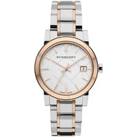 Watches & Jewellery  Women Analogue watches Burberry BU9105 Two Tone Stainless Steel Women's Watch parent