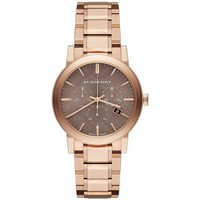 Watches & Jewellery  Women Analogue watches Burberry BU9754 The City Rose Gold-Tone Women's Watch parent
