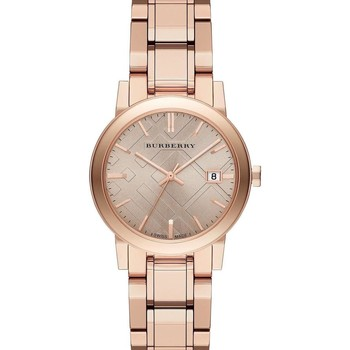 Watches & Jewellery  Women Analogue watches Burberry BU9126 The City Rose Gold Metal Strap Women's Watch parent