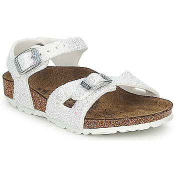 Shoes Girl Sandals Birki's TUVALU White / Glitter