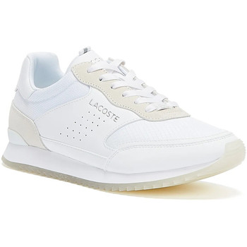 Shoes Men Low top trainers Lacoste Partner Luxe Mens White Trainers White