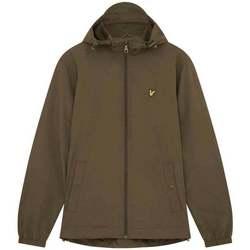 Clothing Men Track tops Lyle & Scott Zip Through Hooded Jacket green