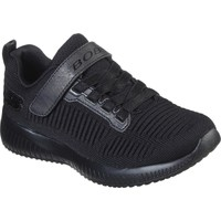 Shoes Girl Low top trainers Skechers Sport Squad Charm League Black and Black