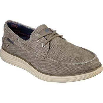 Shoes Men Boat shoes Skechers Status 2.0 - Lorano Taupe
