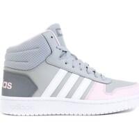 Shoes Children Hi top trainers adidas Originals Hoops Mid 20 K Grey
