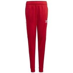 Clothing Children Tracksuit bottoms adidas Originals Adicolor Sst Track Red