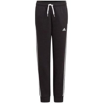 Clothing Boy Trousers adidas Originals Essentials 3STRIPES Pants Black