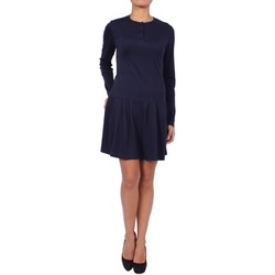 Clothing Women Short Dresses Anta Q'ulqi - Pima cotton Jersey Dress MANOLA bleu