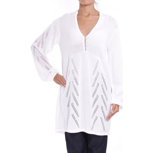 Clothing Women Tunics Anta Q'ulqi - Pima cotton Knit Tunic LOLA blanc