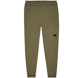 Clothing Men Tracksuit bottoms Cp Company Sweat Cargo Pants - Stone Grey / Green