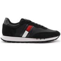 Shoes Men Low top trainers Tommy Hilfiger Retro Mix Black