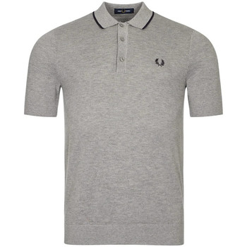 Clothing Men Short-sleeved polo shirts Fred Perry Knitted Polo Shirt - Steel Marl