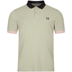 Clothing Men Short-sleeved polo shirts Fred Perry Polo Shirt Contrast Trim - Seagrass