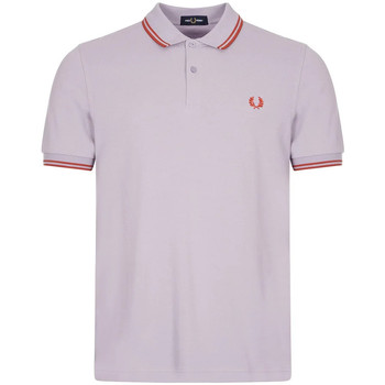 Clothing Men Short-sleeved polo shirts Fred Perry Twin Tipped Polo - Lilac / Cinnamon