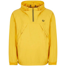 Clothing Men Jackets Fred Perry Half Zip Shell Jacket - Gold