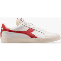 Shoes Low top trainers Diadora Baskets Mixte  Melody leather dirty blanc/rouge