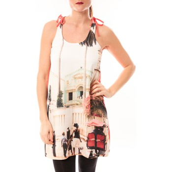 Clothing Women Short Dresses Little Marcel Robe Risima E15FDRE0314 Rose Corail Pink