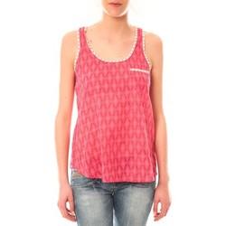 Clothing Women Tops / Sleeveless T-shirts Lara Ethnics Débardeur Ambre Rose Pink