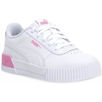 Shoes Children Low top trainers Puma Carina L PS White, Pink