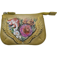 Bags Women Pouches Anuschka 1107 Angel Wings -Hand Painted Leather Multicolour