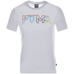 Clothing Men Short-sleeved t-shirts Puma Drycell Graphic White