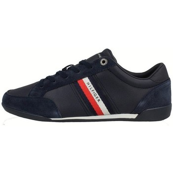 Shoes Men Low top trainers Tommy Hilfiger Corporate Material Mix Leather Navy blue