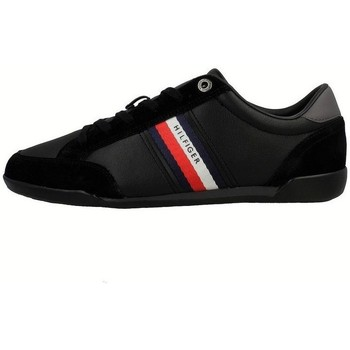 Shoes Men Low top trainers Tommy Hilfiger Corporate Material Mix Leather Black