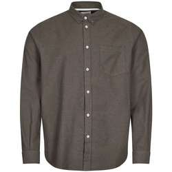 Clothing Men Long-sleeved shirts Norse Projects Anton Brushed Flannel Shirt – Dark Green