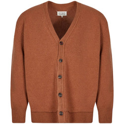 Clothing Men Jumpers Maison Margiela Knitted Cardigan - Brown