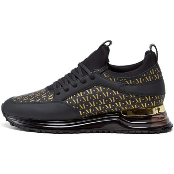 Shoes Men Low top trainers Mallet Archway 2 Trainers - Gas Midnight / Mono Gold