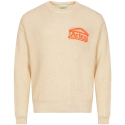 Clothing Men Jumpers Aries Waffle Knit Jumper - Beige