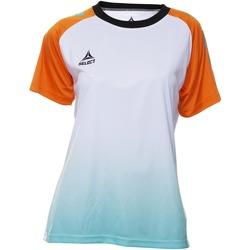Clothing Women Short-sleeved t-shirts Select T-shirt femme  Player Femina orange/blanc/vert