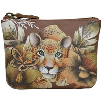 Bags Women Pouches Anuschka 1031 Cleopatra's Leopard Tan - Hand Painted Leather Multicolour