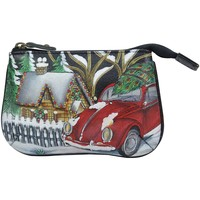 Bags Women Pouches Anuschka 1107 Hippie Holiday - Hand Painted Leather Multicolour