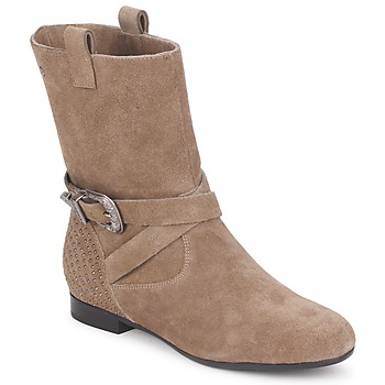 Shoes Women Mid boots Couleur Pourpre TAMA TAUPE