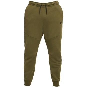 Clothing Men Trousers Nike Tech Fleece Olive