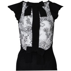 Clothing Women Tops / Blouses Valentino Bow Detail Lace Inse 38