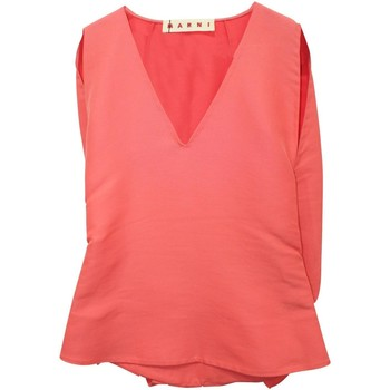 Clothing Women Tops / Blouses Marni Coral Sleeveless Top -Pr 7