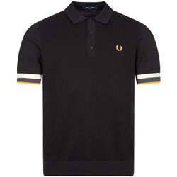 Clothing Men Short-sleeved polo shirts Fred Perry Knitted Polo Shirt - Black / Stripe