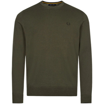 Clothing Men Jumpers Fred Perry Classic Jumper – Hunting Green