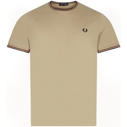 Clothing Men Short-sleeved t-shirts Fred Perry Twin Tipped T-Shirt – Sage