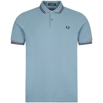 Clothing Men Short-sleeved polo shirts Fred Perry Twin Tipped Polo – Ash Blue