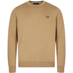 Clothing Men Jumpers Fred Perry Classic Crew Neck Jumper - Warm Stone