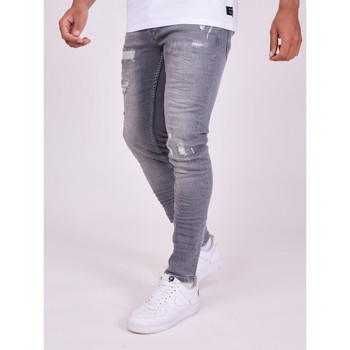 Clothing Men Trousers Project X Paris Pantalon Jeans Slim effet usé gris foncé