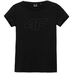 Clothing Women Short-sleeved t-shirts 4F TSD353 Black