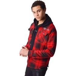 Clothing Men Long-sleeved shirts Project X Paris Surchemise à carreaux Projet X Paris Bicolore rouge/noir