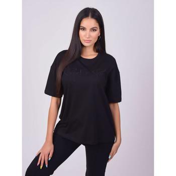 Clothing Women Short-sleeved t-shirts Project X Paris T-shirt femme basic noir