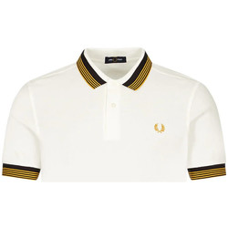 Clothing Men Short-sleeved polo shirts Fred Perry Polo Shirt Striped Collar - Snow White