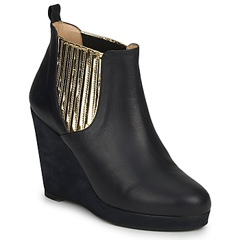 Shoes Women Ankle boots MySuelly LEON Black / Marine / Gold